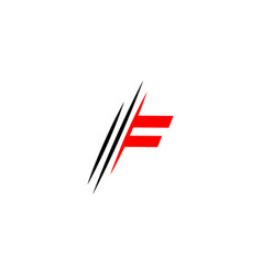 Letter f logo graphic elegant and unique sliced vector