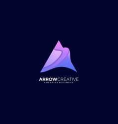 logo arrow triangle creative gradient colorful vector image