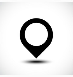 Map locations icon vector
