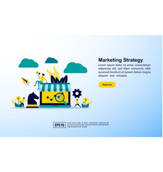 marketing strategy concept with icon and vector image