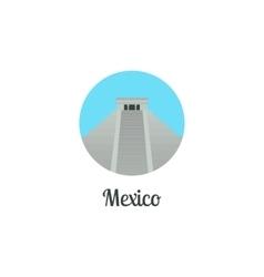 Mexico landmark isolated round icon vector image vector image