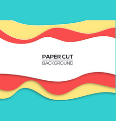modern summer paper cut cover vector image