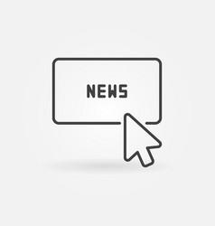 mouse click on news button concept icon vector image