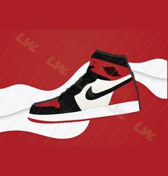 Nike air jordan 1 og chicago vector