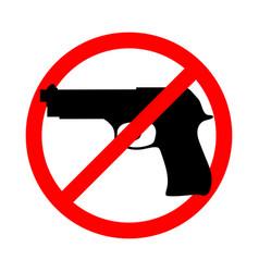 No guns vector