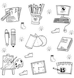 Object school doodles art vector