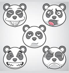 Panda emoticons set 2 vector