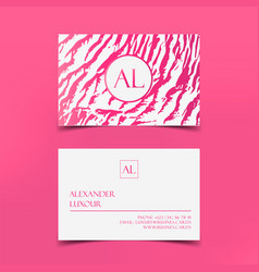 pink fashion business card template banner vector image