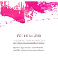 pink rose magenta grunge marble watercolor vector image