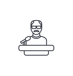 Presentation education speaker lecture teacher vector