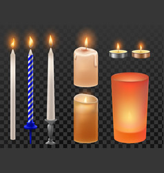 realistic candle christmas holidays or birthday vector image