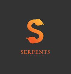 Serpents logo vector