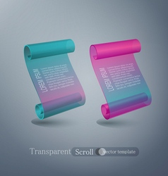 set abstract scroll elements for design vector image