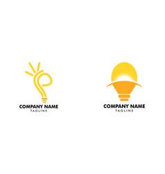 set of bulb idea logo template vector image