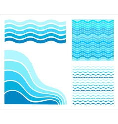 set vektor waves vector image
