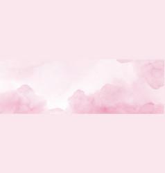 Sky fantasy pastel pink watercolor hand-painted vector
