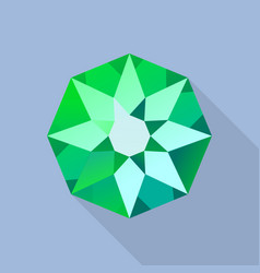 star emerald icon flat style vector image