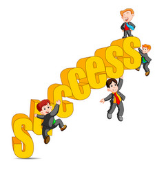 success in business concept happy man vector image