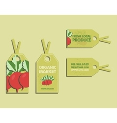 Summer Farm Fresh sticker template or brochure vector