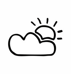 sun and a cloud vector image