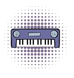 Synthesizer comics icon vector image
