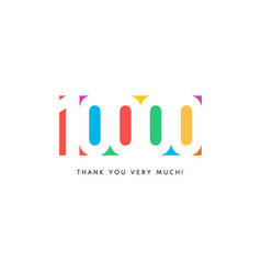 Ten thousand subscribers baner colorful logo for vector
