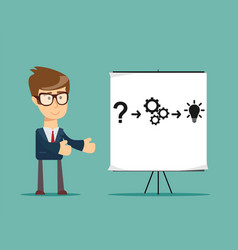thinking businessman solving a problem vector image