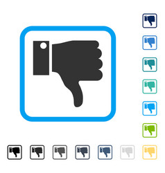 thumb down framed icon vector image