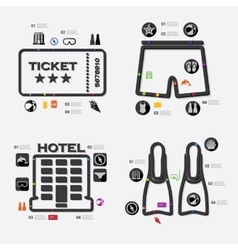 Tourism infographic vector