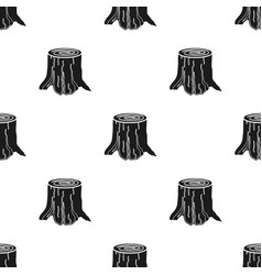 Tree stump icon in black style isolated on white vector