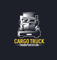 Truck logo cargo delivery logistic vector