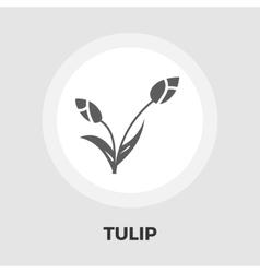 Tulip icon flat vector image