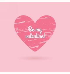 Valentines day phrase Grunge heart vector image