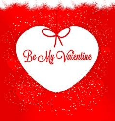 Be My Valentine Happy Valentines day vector image