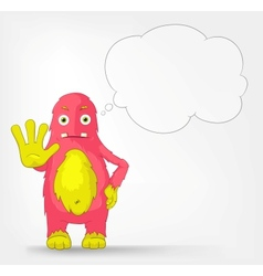Funny Monster Stop vector image