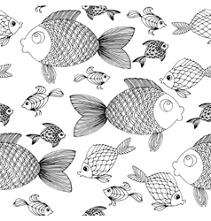 Hand drow Fish background vector image vector image