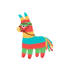 mexican pinata isolated vector image vector image