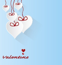 Valentine love hearts on blue background vector
