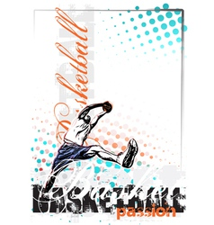 basketball poster background vector image vector image
