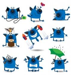 cartoon cats set vector image