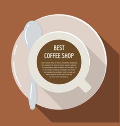 cup of coffee flat espresso drink vector image