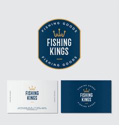 Fishing kings logo hooks like a crown vector