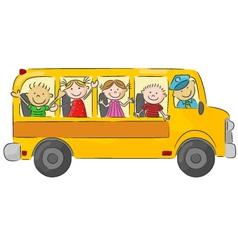 School bus cartoon vector image