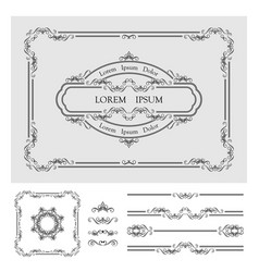 vintage frame template vector image vector image