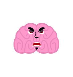 Brain angry emotion human brains emoji evil vector