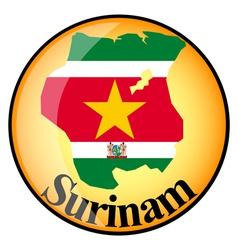 button Surinam vector image vector image
