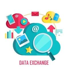 Data exchange banner vector