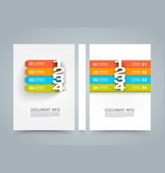 Document information menu banner book a4 size vector