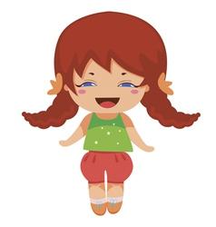 kawaii baby princess vector image vector image