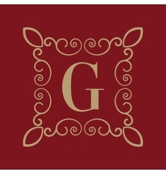 Monogram letter G Calligraphic ornament Gold vector image vector image